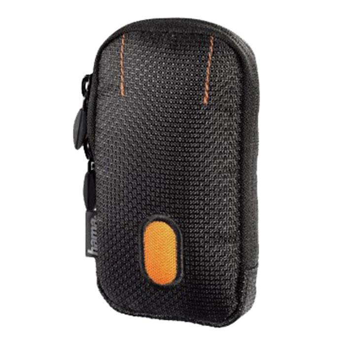 Hama Sorento 70C, Black Orange чехол для фотокамеры023105Hama Sorento 70С - удобная и компактная сумка-чехол для фотокамеры, которая надежно сохранит аппарат в целости и сохранности, значительно увеличив срок его службы. Данная модель изготовлена из высококачественного нейлона, а внутри имеет мягкую подкладку, предотвращающую любые механические повреждения. В переноске этот чехол тоже очень удобен - на нем предусмотрено крепление на пояс, а если оно по какой-то причине не подходит, можно воспользоваться съемным наплечным ремнем.