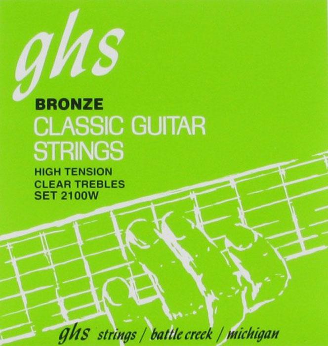 GHS 2100W струны для классической гитары2100WСтруны для классической гитары GHS 2100W - это стандарт промышленной индустрии в производстве струн для классической гитары. Узелки на конце струны облегчают замену струн и обеспечивают яркое звучание, а обмотка из фосфорной бронзы придает этим струнам еще больше яркости в звуке.