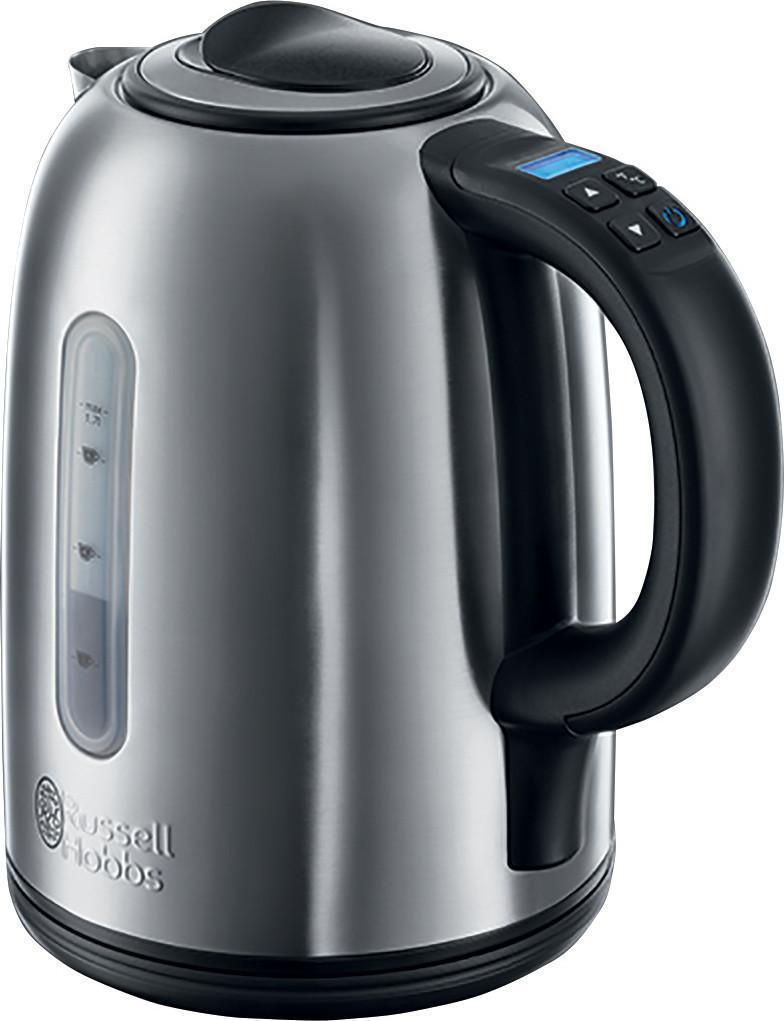 Russell Hobbs 21040-70 Buckingham электрический чайник21040-70 BuckinghamRussell Hobbs 21040-70 - это прекрасный чайник для страстных любителей разнообразных горячих напитков, будь то различные сорта чая кофе или горячий шоколад. Он обладает технологией бесшумного закипания, которая делает процесс кипячения воды на 75% тише по сравнению со стандартным чайником. Великолепный выбор для тех, кто до сих пор считал шум чайника при запипании раздражительным и неудобным! Емкость 1.7 литра позводит приготовить до 6 чашек напитка.