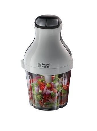 Russell Hobbs 21510-56 Aura, White блендер-измельчитель21510-56 Aura WhiteЛюбите соусы и овощные или фруктовые смеси? Просто поместите фрукты, овощи или травы в контейнер блендера-измельчителя Aura и он в одно мгновение измельчит и смешает все ингредиенты! Используя инновационный 8-образный нож без острых концов, позволяет блендеру добиваться эффекта и смешивания и измельчения. Лезвия также могут быть использованы для измельчения льда, для коктейлей и смузи. Нескользящее основание может быть использовано как крышка для контейнера с готовым ингредиентом. После чего, вы можете хранить емкость в холодильнике или взять с собой на природу или работу.