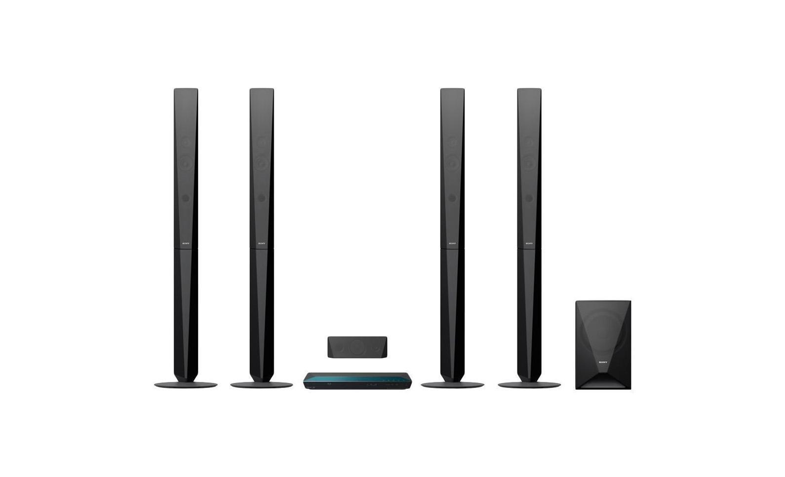 Sony BDV-E6100 домашний кинотеатр4905524897210Наслаждайтесь динамическим объемным звучанием - грохотом в фильмах, ревом толпы на спортивных матчах или вокальными партиями в любимых композициях. Используя доступ к песням в одно касание на смартфоне, поддерживающем NFC и Bluetooth, вы можете начать воспроизведение музыки так же быстро, как шагнуть в комнату. Смотрите ли вы любимый фильм или слушайте музыку, пусть звучание будет по-настоящему впечатляющим. Благодаря щедрой выходной мощности 1000 Вт двух напольных АС, двух сателлитных АС и сабвуфера вы услышите безупречный и мощный окружающий звук, который перенесет вас в эпицентр событий. Передавайте музыку со смартфона или планшетного компьютера с поддержкой Bluetooth и NFC, просто прикоснувшись к системе домашнего кинотеатра. Требуется всего одно касание. Также вы можете передавать музыку в потоковом режиме с ПК, iPhone, iPad или iPod через Bluetooth. Каким бы ни был ваш выбор, технология Digital Music Enhancer обрабатывает звук, делая его чище. Благодаря встроенному Wi-Fi, вы...