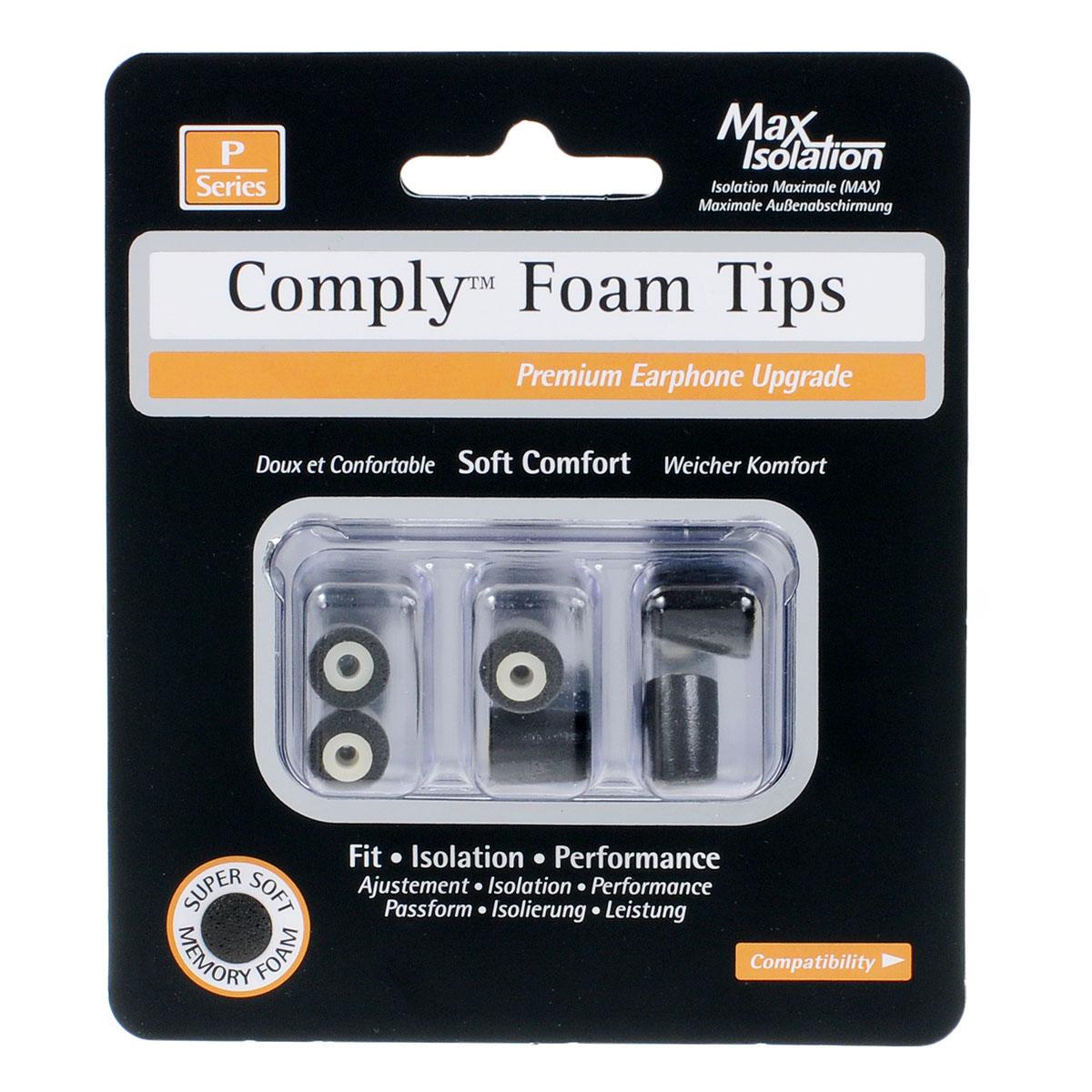 Comply P-Series P-100 Small, Black амбушюры для наушников (3 пары)15117920Сменные амбушюры Comply P-100 для внутриканальных наушников изготовлены из полиуретановой пены и термопластичного эластомера. Активным слушателям они гарантируют индивидуальную посадку в ушном канале, комфортное использование в течение всего дня, а также превосходное качество звука без внешних помех. Эти амбушюры изготовлены из прочных материалов и аккуратно растягиваются, чтобы принять форму ушного канала. Они обладают индивидуальной посадкой и прекрасно удерживаются внутри уха, поэтому ваши наушники всегда в целости и сохранности вне зависимости от того, находитесь ли вы на улице или внутри помещения. Также эти амбушюры позволят вам насладиться музыкой в шумных местах, не увеличивая громкость музыки на плеере. Уникальная полиуретановая пена с эффектом памяти обеспечивает круглосуточный комфорт, избавляя вас от неприятных ощущений в ушах и усталости, которые могут появляться при использовании ушных вкладышей, идущих в комплекте с наушниками. В...