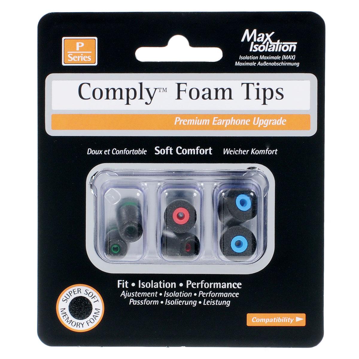 Comply P-Series P-100 Mixed, Black амбушюры для наушников (3 пары)15117919Сменные амбушюры Comply P-100 для внутриканальных наушников изготовлены из полиуретановой пены и термопластичного эластомера. Активным слушателям они гарантируют индивидуальную посадку в ушном канале, комфортное использование в течение всего дня, а также превосходное качество звука без внешних помех. Эти амбушюры изготовлены из прочных материалов и аккуратно растягиваются, чтобы принять форму ушного канала. Они обладают индивидуальной посадкой и прекрасно удерживаются внутри уха, поэтому ваши наушники всегда в целости и сохранности вне зависимости от того, находитесь ли вы на улице или внутри помещения. Также эти амбушюры позволят вам насладиться музыкой в шумных местах, не увеличивая громкость музыки на плеере. Уникальная полиуретановая пена с эффектом памяти обеспечивает круглосуточный комфорт, избавляя вас от неприятных ощущений в ушах и усталости, которые могут появляться при использовании ушных вкладышей, идущих в комплекте с наушниками. В...