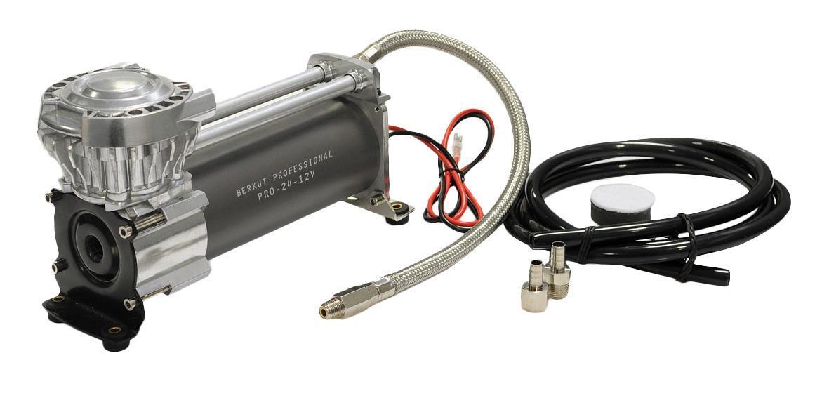 Компрессор автомобильный BERKUT PRO-24PRO-24Технические характеристики: - Напряжение питания: 12 В - Максимальный ток потребления: 21 A - Рабочая мощность: 250 Вт - Максимальное рабочее давление: 10,5 атм (BAR) - Производительность (23°C/ 0 Атм) : 47 л/мин - Максимальный рабочий цикл (23°C/ 7 Атм): 100% - Время непрерывной работы (23°C/ 7 Атм): непрерывно - Диапазон рабочих температур: -30 °C +80 °C - Уровень шума: ...