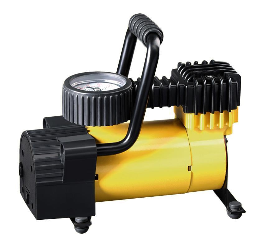 Компрессор автомобильный КАЧОК K50K50Технические характеристики компрессора автомобильного Качок К 50 Допустимое напряжение: 10-13,5 В Максимальный ток потребления: 12 А Максимальное давление: 7 Атм. (кг/см2) Время непрерывной работы: 30 мин. Производительность: 30 л/мин. Рабочая температура: -35°С +80°С Масса: 2 кг Навинчивающаяся насадка на ниппель колеса Подключение в гнездо прикуривателя Комплект поставки: Компрессор Качок К 50 Переносная сумка для хранения Набор переходных штуцеров - 4 штуки Инструкция по эксплуатации Упаковочная коробка Материал: металл, пластик; цвет: желтый Материал: металл, пластик; цвет: желтый