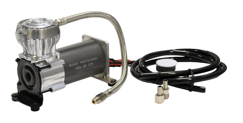 Компрессор автомобильный BERKUT PRO-20PRO-20Технические характеристики: - Напряжение питания: 12 В - Максимальный ток потребления: 21 A - Рабочая мощность: 230 Вт - Максимальное рабочее давление: 10,5 атм (BAR) - Производительность (23°C/ 0 Атм) : 42 л/мин - Максимальный рабочий цикл (23°C/ 7 Атм): 33% - Время непрерывной работы (23°C/ 7 Атм): ON 15 мин. / OFF 30 мин. - Диапазон рабочих температур: -30 °C +80 °C - Уровень шума: ...