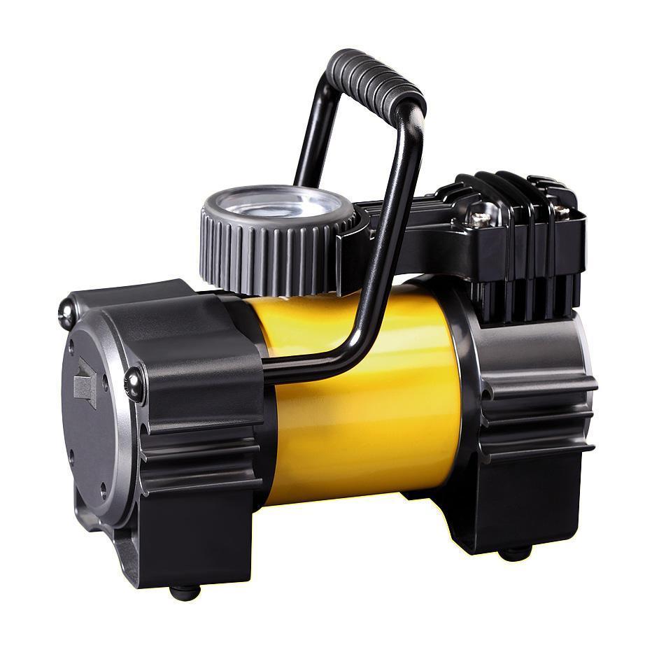 Компрессор автомобильный КАЧОК K90K90Технические характеристики компрессора автомобильного Качок К 90 Допустимое напряжение: 10-13,5 В Максимальный ток потребления: 14 А Максимальное давление: 10 Атм. (кг/см2) Время непрерывной работы: 30 мин. Производительность: 40 л/мин. Рабочая температура: -35°С +80°С Масса: 2,5 кг Навинчивающаяся насадка на ниппель колеса Подключение в гнездо прикуривателя Удобная ручка для переноски Точный двушкальный манометр Встроенный плавкий предохранитель - 15A Комплект поставки: Компрессор Качок К 90 Переносная сумка для хранения Набор переходных штуцеров для надувных изделий - 4 шт. Инструкция по эксплуатации Упаковочная коробка Материал: металл, пластик; цвет: желтый Материал: металл, пластик; цвет: желтый