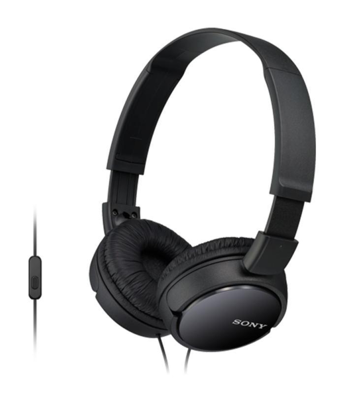 Sony MDR-ZX110AP, Black наушникиSony MDR-ZX110AP/BОкунитесь в мир музыки оставаясь на связи! Низкие звуковые частоты позволяют чувствовать звук, когда ритм ударных задает ритм вашего сердца и если глубокие и выразительные басы являются для вас одной из главных составляющих хорошего звука, вам стоит обратить внимание на линейку наушников Sony eXtra Bass (серия MDR-XB). Наушники Sony eXtra Bass созданы таким образом, чтобы воспроизводить мягкие резонирующие низкочастотные звуки в музыке любых направлений, обеспечивая великолепное звучание басов. Наушники MDR-ZX110AP оснащены 30-мм динамическими головками, что позволяют наслаждаться сбалансированным звучанием в любой ситуации, даже на ходу. А мягкие ушные накладки обеспечат бесконечный комфорт. Встроенный микрофон позволит всегда оставаться на связи, значительно расширяя функциональность смартфонов на базе Android.
