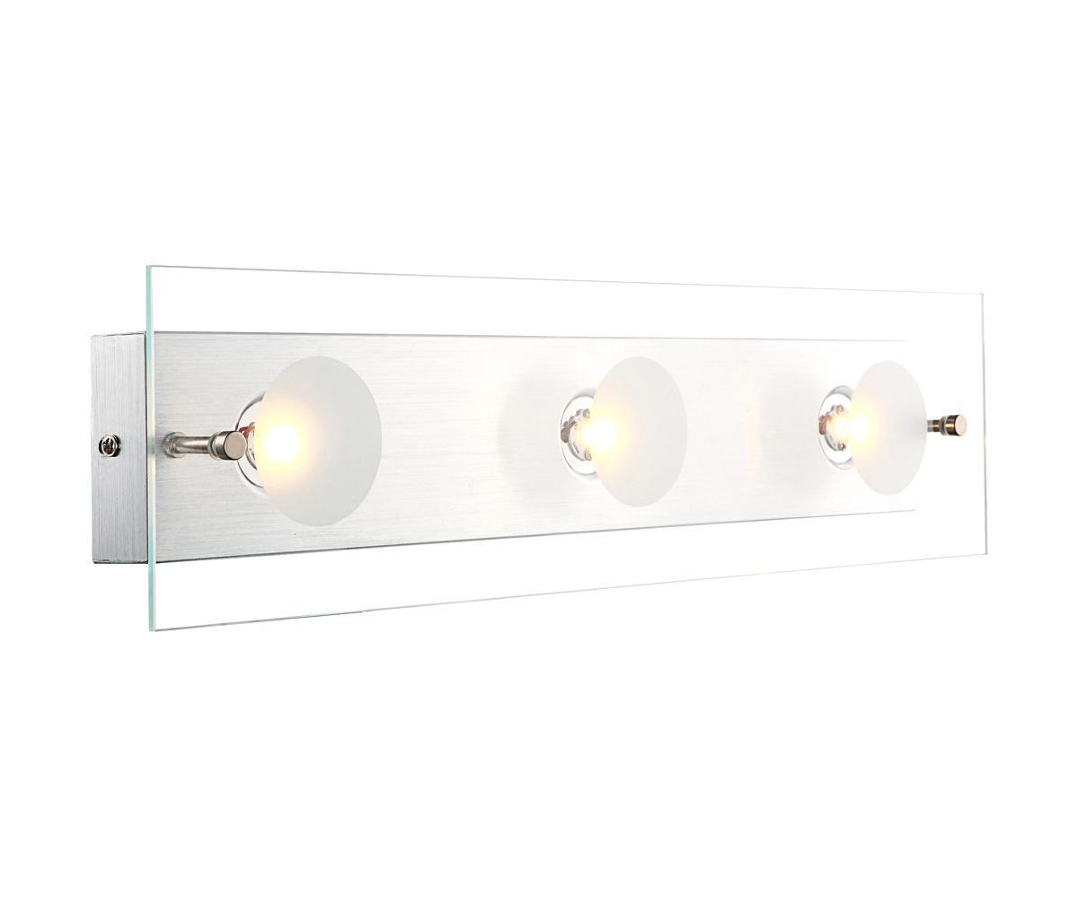 49200-3 Настенно-потолочный светильник BERTO49200-3Бра Globo 49200-3 Berto идеально подойдет для интерьеров в стиле модерн. Рекомендовано использование энергосберегающих ламп для экономии электроэнергии. Подойдет для освещения гостинной, спальни, кухни Материал: Арматура: Металл/Плафон: Стекло Цвет: Арматура: Серебристый/Плафон: Прозрачный Размер: 49х12х6,5