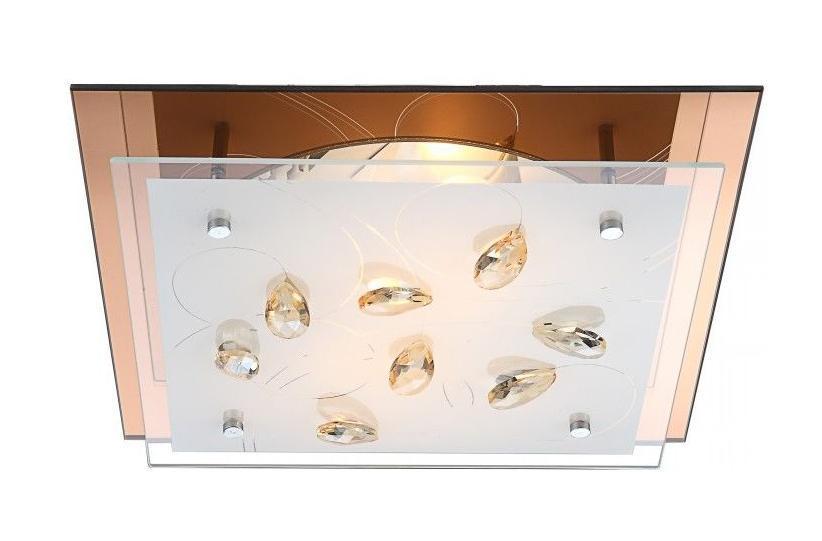 40412-2 AYANA Потолочная люстра40412-2Большой популярностью пользуются настенно-потолочные светильники Globo AYANA 40412-2, покоряя своим разнообразием. Здесь и классика, и современность, и оригинальность, и дизайнерские экземпляры. Настенно-потолочные светильники Globo подойдут для освещения кухни, ванной, прихожей и многих других местах. Изготавливаются настенно-потолочные светильники в виде плафонов (разного цвета и формы) со скрытой лампой, позволяя их устанавливать и на стену и на потолок. Материал: Арматура: Металл / Плафон: Стекло Цвет: Арматура: Медный / Плафон: Матовый Размер: 33,5х33,5х8,5 Материал: Арматура: Металл / Плафон: Стекло Цвет: Арматура: Медный / Плафон: Матовый Размер: 33,5х33,5х8,5