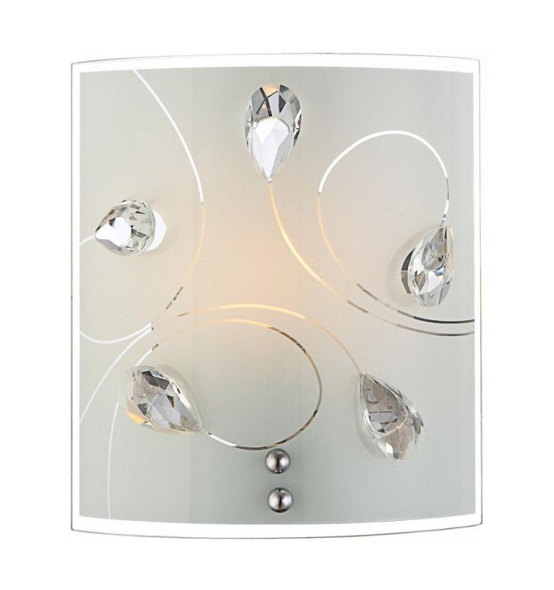 40414-1W ALIVIA Настенно-потолочный светильник40414-1WБра серии ALIVIA выполнено из металла в цвете хром с плафоном из белого матового стекла. Рассчитано на 1 лампу со стандартным цоколем E27 максимальной мощностью 60 Вт. Подходит для освещения площади в 2-3 кв. м. Светильник подключается общей проводке и управляется от центрального выключателя.