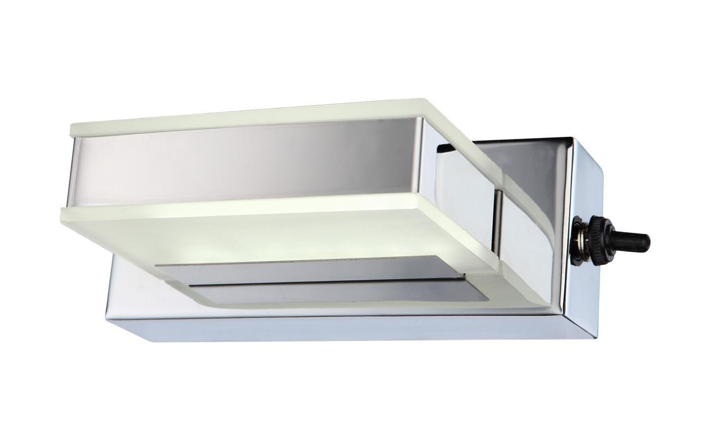 41697-1 HARPER Бра41697-1Бра с выключателем серии HARPER выполнено из металла в цвете хром с рассеивателем из белого акрила. Источником света служит 1 светодиодный (LED) модуль со световым потоком в 120 Лм. Подходит для освещения площади в 1 кв. м. Выключатель расположен на корпусе. Дает теплый свет, близкий к обычной лампе накаливания.