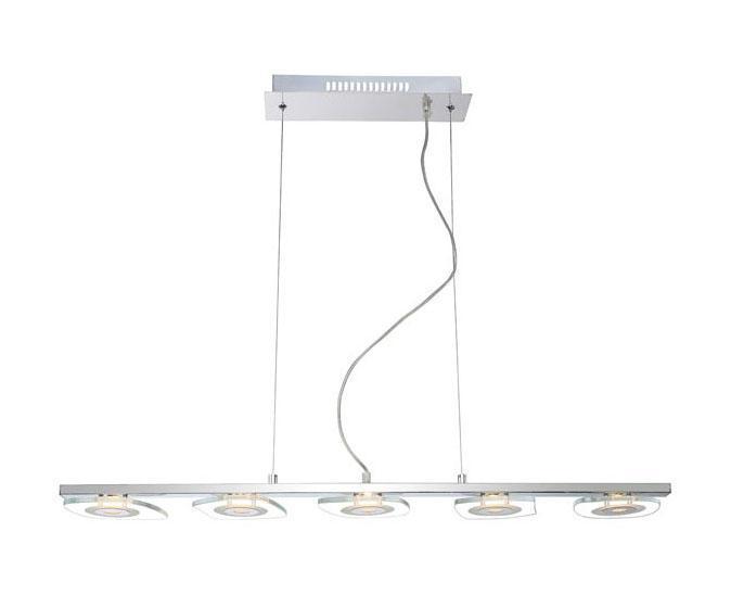 41710-5H ZARIMA Подвес41710-5HПодвесные светильники ZARIMA 41710-5H в стиле модерн создают теплую, простую и уютную обстановку, отлично впишутся в дизайн кухни. Металлическое основание серого цвета прекрасно гармонирует с плафоном из стекла. Подвесной светильник с максимальной мощностью 41416W осветит комнату, площадью 5 кв.м.