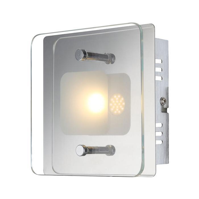 49203-1 JEMINA Бра49203-1Светильник globo JEMINA 49203-1 настенно потолочный представлен со светодиодными и люминесцентными лампами, что позволяет экономить потребление электроэнергии при достаточной освещенности. Но компания не ограничивает свое производство выпуском настенно-потолочных светильников, а также выпускает люстры, бра, торшеры, подсветки, а также уличные потолочные и не только светильники. Материал: Арматура: Металл / Плафон: Стекло Цвет: Арматура: Серебристый / Плафон: Матовый Размер: 14х14х6,2 Материал: Арматура: Металл / Плафон: Стекло Цвет: Арматура: Серебристый / Плафон: Матовый Размер: 14х14х6,2
