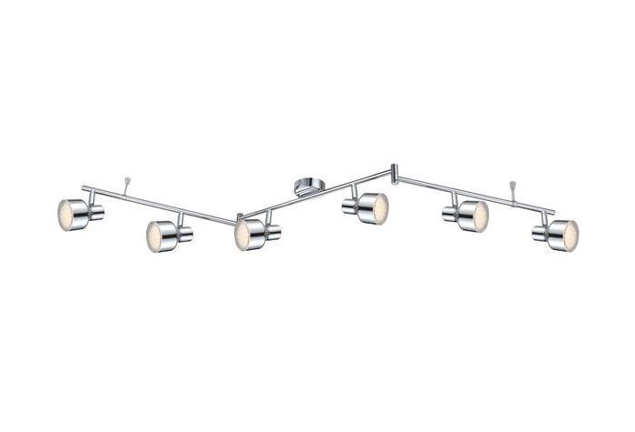 56213-6 ROIS Спот56213-6Трековые системы ROIS 56213-6 в стиле модерн выглядят дорого и солидно, гармонично впишутся в интерьер кухни. Металлическое основание серого цвета превосходно сочетается с плафоном из пластика. Трековый светильник с максимальной мощностью 24W осветит комнату, площадью 5 кв.м. Материал: Арматура: Металл / Плафон: Пластик Цвет: Арматура: Серебристый / Плафон: Прозрачный Размер: 150х12х14 Материал: Арматура: Металл / Плафон: Пластик Цвет: Арматура: Серебристый / Плафон: Прозрачный Размер: 150х12х14