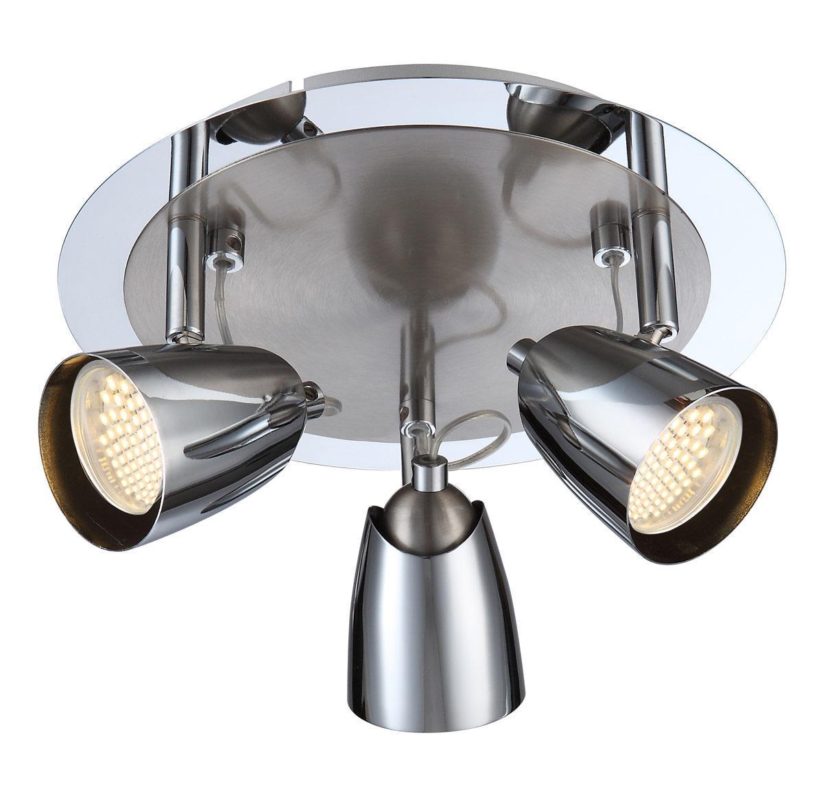 57604-3 TAMAS Спот57604-3Споты TAMAS 57604-3 в стиле модерн выглядят дорого и солидно, гармонично впишутся в интерьер спальни. Металлическое основание серого цвета, материал плафона из металла. Точечный светильник с максимальной мощностью 150W осветит комнату, площадью 11 кв.м.