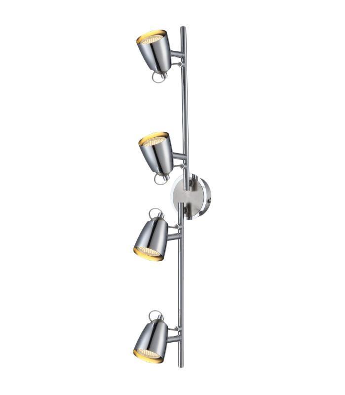 57604-4 TAMAS Спот57604-4Трековые системы TAMAS 57604-4 в стиле модерн - идеальный вариант для оформления элегантного интерьера кухни. Металлическое основание серого цвета отлично сочетается с плафоном из металла. Трековый светильник с максимальной мощностью 200W осветит жилое пространство, площадью не более 14 кв.м. Материал: Арматура: Металл / Плафон: Металл Цвет: Арматура: Серебристый / Плафон: Серебристый Размер: 72,5х18х18