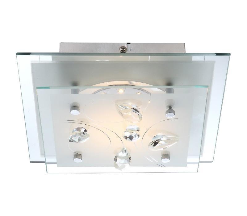 40418 ELINE Потолочная люстра40418Большой популярностью пользуются настенно-потолочные светильники Globo ELINE 40418, покоряя своим разнообразием. Здесь и классика, и современность, и оригинальность, и дизайнерские экземпляры. Настенно-потолочные светильники Globo подойдут для освещения кухни, ванной, прихожей и многих других местах. Изготавливаются настенно-потолочные светильники в виде плафонов (разного цвета и формы) со скрытой лампой, позволяя их устанавливать и на стену и на потолок. Материал: Арматура: Металл / Плафон: Стекло Цвет: Арматура: Серебристый / Плафон: Матовый Размер: 24х24х7 Материал: Арматура: Металл / Плафон: Стекло Цвет: Арматура: Серебристый / Плафон: Матовый Размер: 24х24х7