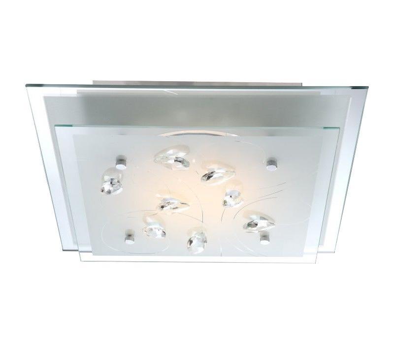 40419 ELINE Потолочная люстра40419Большой популярностью пользуются настенно-потолочные светильники Globo ELINE 40419, покоряя своим разнообразием. Здесь и классика, и современность, и оригинальность, и дизайнерские экземпляры. Настенно-потолочные светильники Globo подойдут для освещения кухни, ванной, прихожей и многих других местах. Изготавливаются настенно-потолочные светильники в виде плафонов (разного цвета и формы) со скрытой лампой, позволяя их устанавливать и на стену и на потолок.