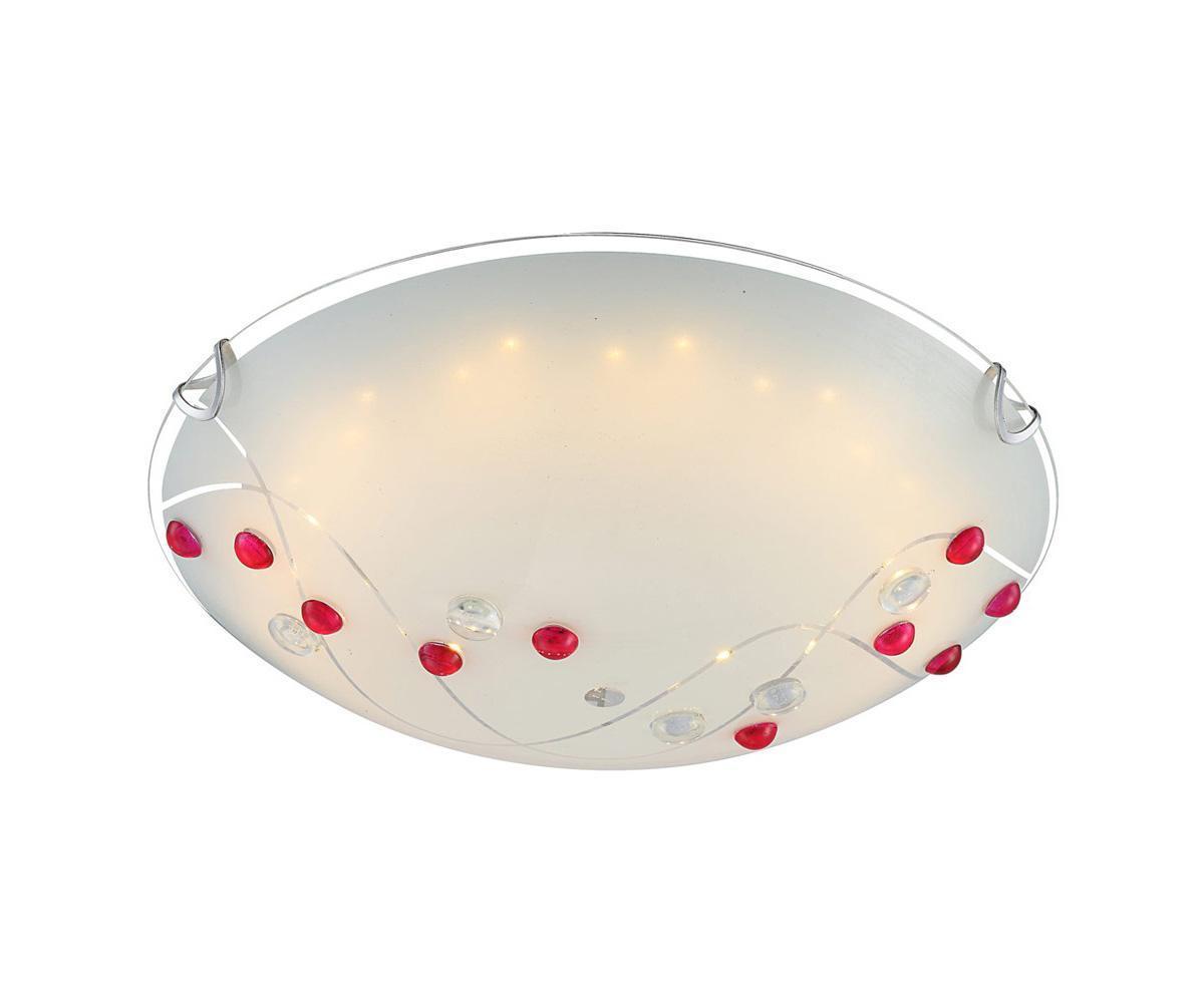 40428 PALILA Потолочный светильник40428Большой популярностью пользуются настенно-потолочные светильники Globo PALILA 40428, покоряя своим разнообразием. Здесь и классика, и современность, и оригинальность, и дизайнерские экземпляры. Настенно-потолочные светильники Globo подойдут для освещения кухни, ванной, прихожей и многих других местах. Изготавливаются настенно-потолочные светильники в виде плафонов (разного цвета и формы) со скрытой лампой, позволяя их устанавливать и на стену и на потолок. Материал: Арматура: Металл / Плафон: Стекло Цвет: Арматура: Серебристый / Плафон: Разноцветный Размер: 30х30х10 Материал: Арматура: Металл / Плафон: Стекло Цвет: Арматура: Серебристый / Плафон: Разноцветный Размер: 30х30х10