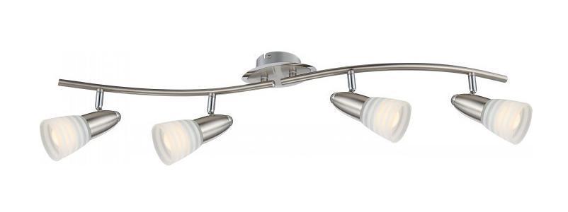 54536-4 CALEB Спот54536-4Споты CALEB 54536-4 в стиле модерн - идеальный вариант для оформления элегантного интерьера спальни. Металлическое основание серого цвета превосходно сочетается с плафоном из стекла. Точечный светильник с максимальной мощностью 12W осветит комнату, площадью 2 кв.м.