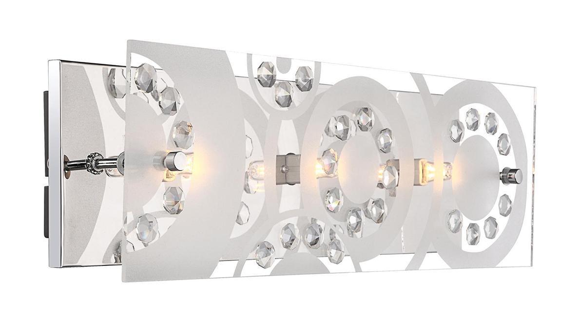 48690-3 Настенно-потолочный светильник DIANNE48690-3Бра Globo 48690-3 Dianne идеально подойдет для интерьеров в стиле модерн. Основные элементы светильника Globo 48690-3 Dianne изготовлены из следующих материалов: стекло, хрусталь, металл.