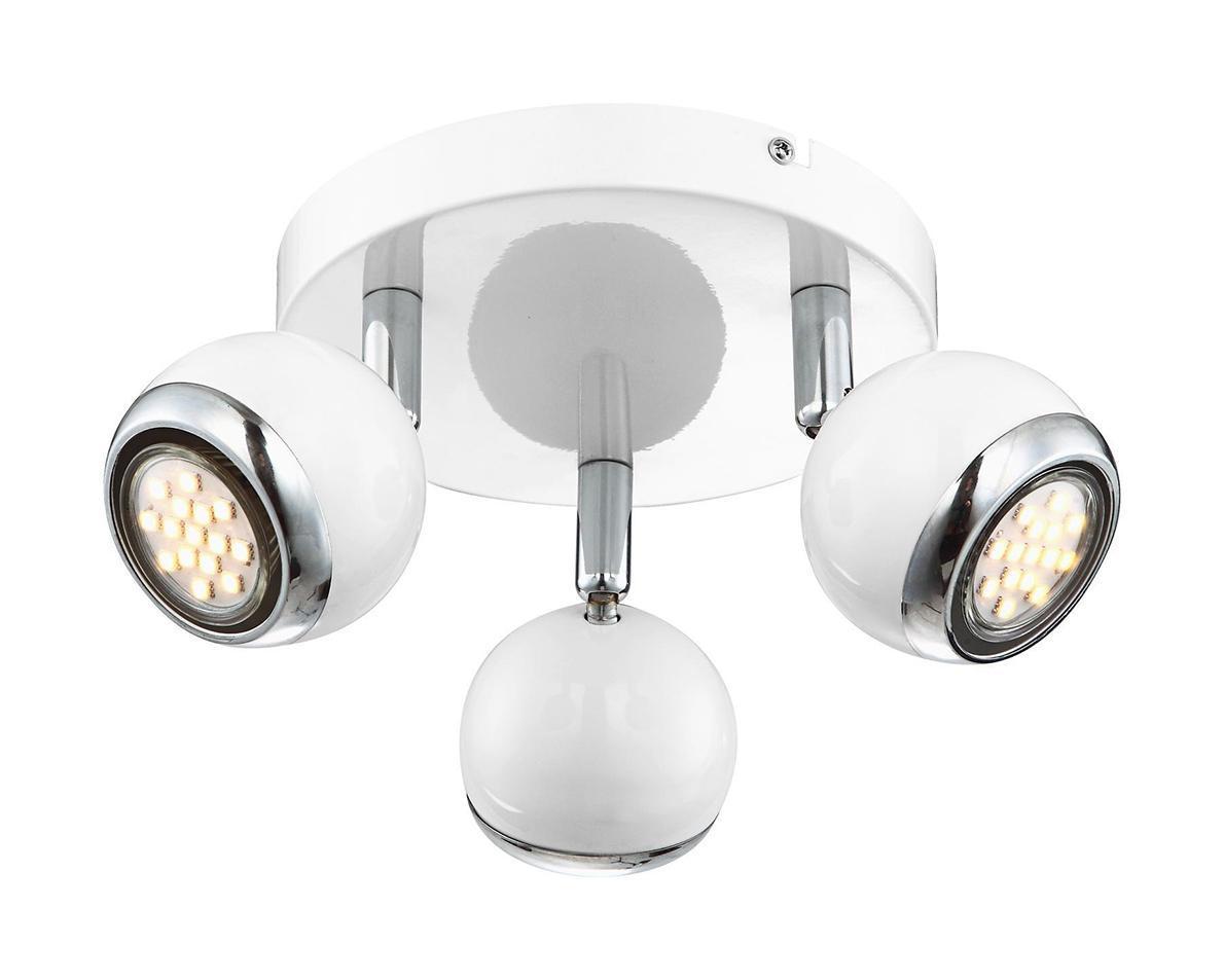 57882-3 Настенно-потолочный светильник OMAN57882-3Споты GLOBO 57882-3 в современном стиле достаточно популярны, идеально подойдут при оформлении интерьера кухни. Металлическое основание серого цвета превосходно сочетается с плафоном из металла. Точечный светильник с максимальной мощностью 10W осветит комнату, площадью 2 кв.м. Материал: Арматура: Металл/Плафон: Металл Цвет: Арматура: Серебристый/Плафон: Белый Размер: 18х18х13 Материал: Арматура: Металл/Плафон: Металл Цвет: Арматура: Серебристый/Плафон: Белый Размер: 18х18х13