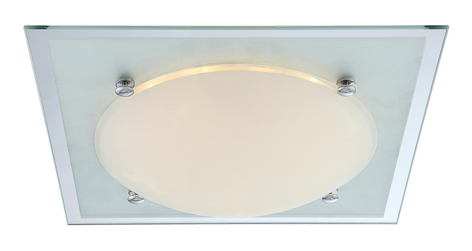 48426 SPECCHIO II Потолочный светильник48426Светильник globo SPECCHIO II 48426 настенно потолочный представлен со светодиодными и люминесцентными лампами, что позволяет экономить потребление электроэнергии при достаточной освещенности. Но компания не ограничивает свое производство выпуском настенно-потолочных светильников, а также выпускает люстры, бра, торшеры, подсветки, а также уличные потолочные и не только светильники. Материал: Арматура: Металл / Плафон: Стекло Цвет: Арматура: Серебристый / Плафон: Матовый Размер: 33,5х33,5х9 Материал: Арматура: Металл / Плафон: Стекло Цвет: Арматура: Серебристый / Плафон: Матовый Размер: 33,5х33,5х9