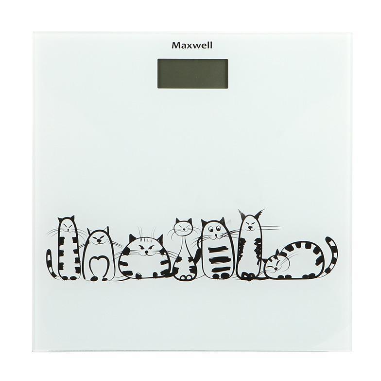 Maxwell MW-2675(W) напольные весыMW-2675(W)Напольные весы Maxwell – большой выбор по приемлемой цене! Многие люди, стремящиеся похудеть, покупают весы напольного типа. Но их разнообразие настолько велико, что выбрать подходящую модель довольно сложно. И если вы затрудняетесь в выборе, то обратите внимание на напольные весы торговой марки Maxwell. Широкий модельный ряд, разные функциональные особенности, эксклюзивный дизайн и высокое качество – все это выделяет технику Maxwell на фоне многочисленных аналогов.