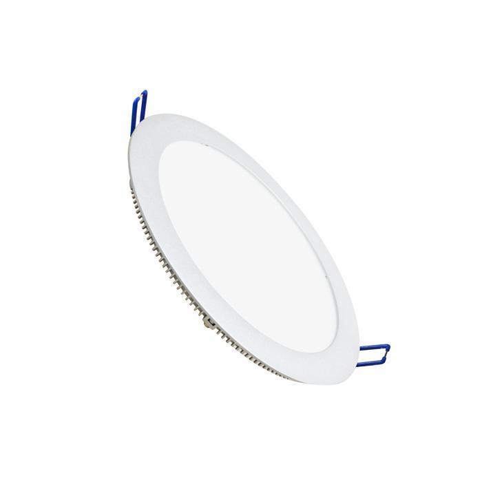 Светильник встраиваемый светодиодный тонкий круг 15.5W 6500 1100lm холодный белый D=235mm - цвет белый