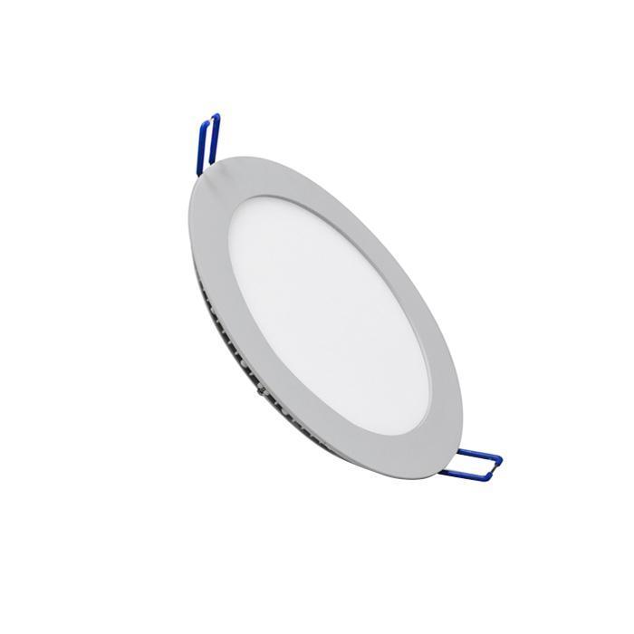 Светильник встраиваемый светодиодный тонкий круг 10W 2800K 700lm теплый белый D=180mm - цвет серый20113,DL-11Светодиодные лампы ESTARES 20113 оснащены встроенным блоком питания, который обеспечивает непрерывную работу лампы при скачках напряжения в диапазоне AC110-265V. Отличительной чертой светодиодных ламп ESTARES является использование блоков питания с высоким коэффициентом мощности cos f (0,98) и с минимальным коэффициентом пульсации - 0,2%.