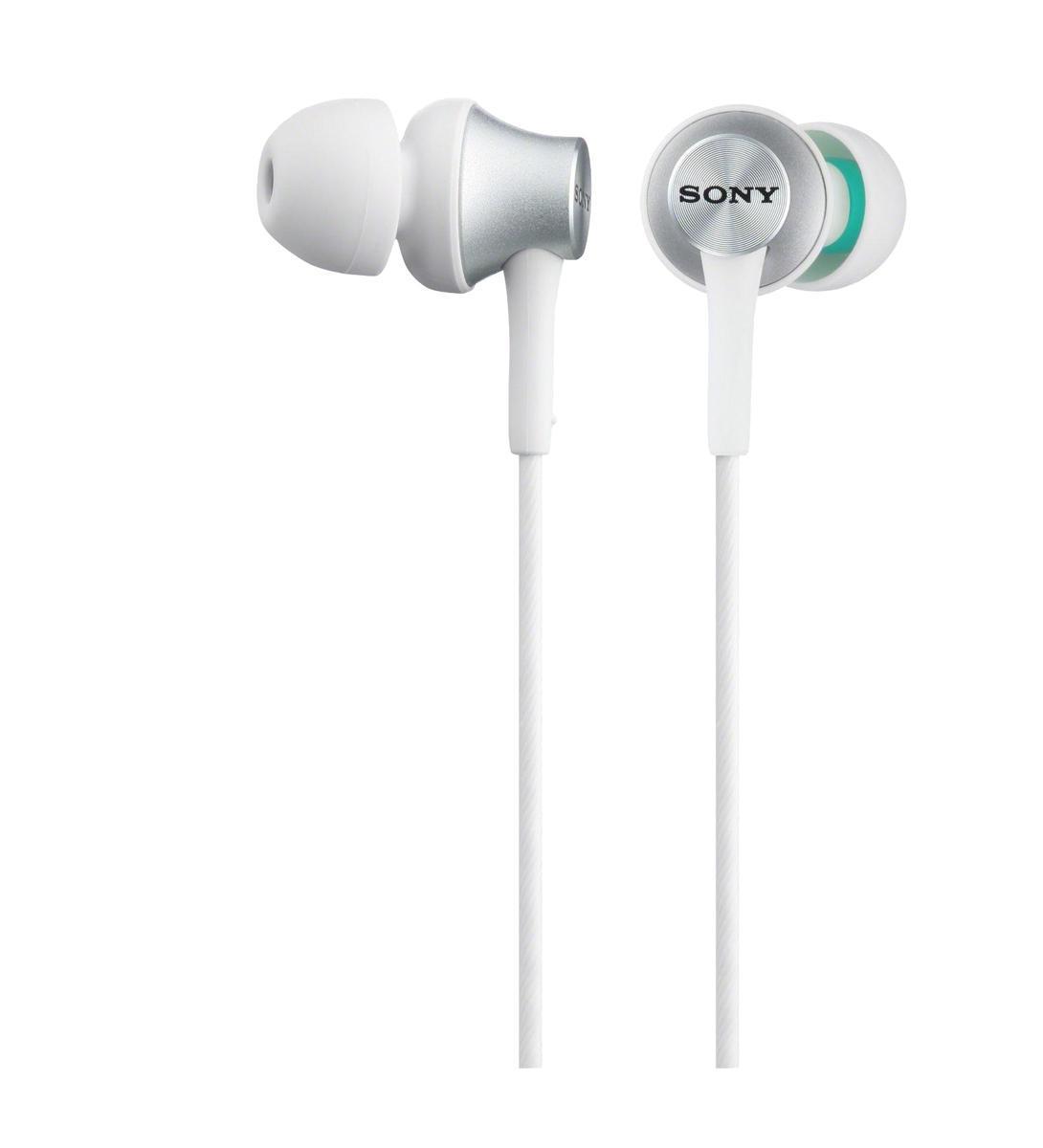 Sony MDR-EX450, White наушникиMDR-EX450 WhiteSony MDR-EX450H - легкие наушники-вкладыши с 12-мм мембранами, которые позволяют слушать музыку с чистым, четким звуком. 12-мм динамик обеспечивает кристальную чистоту звука. Чувствительность звучания 103 дБ/мВт и широкий диапазон частот 5-25000 Гц позволяют точно воспроизводить высокие и низкие частоты независимо от громкости. Шнур длиной 1,2 м позволяет слушать музыку без путающихся проводов. Плотно сидящие наушники отражают звуковые волны, создавая резонирующий звук. Компактный дизайн придает наушникам скромный и элегантный внешний вид. Для максимального комфорта в комплекте с наушниками идут мягкие силиконовые вкладыши четырех размеров (SS, S, M и L). Провод имеет регулируемую длину, позволяя настроить его так, как вам удобно.