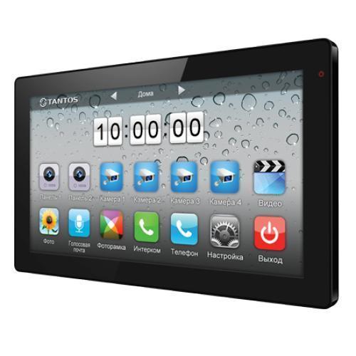 Tantos Violet, Black монитор видеодомофона00-00016113Цветной видеодомофон Tantos Violet с диагональю экрана 10.1 дюймов и разрешением 1024x600, отличается удобством функциональных особенностей и сенсорным управлением, подобно современным смартфонам. Благодаря полностью русифицированному меню, видеодомофон Tantos Violet прост в управлении. Значки меню выполнены подобно значкам меню iPhone. Домофон позволяет установить мелодии в формате MP3 в качестве сигнала вызова. Монитор Tantos Violet работает с самыми распространенными вызывными панелями отечественного и зарубежного производства. К этому видеомонитору подключается до 2-х вызывных блоков, соединение с панелями монтируется 4-х проводным кабелем , кроме них, возможно подключение дополнительных обзорных камер в количестве 4 штук . Это даст Вам возможность построить систему видеонаблюдения с максимальной эффективностью. В домофоне есть функция записи видео по движению на один канал. Просмотр видео осуществляется с монитора Tantos Violet. Вся информация записывается на...