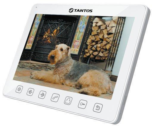Tantos Sherlock, White монитор видеодомофона00-00017046Tantos Sherlock (White) — монитор видедомофона в белом корпусе с диагональю экрана 10,1 дюймов. Монитор позволяет подключать до 2-х вызывных панелей и 2-х видеокамер, имеет возможность работы как в индивидуальном, так и в многоквартирном режиме.