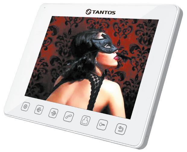 Tantos Tango, White монитор видеодомофона00-00017051Дизайн монитора 9 дюймов прост и изящен, все управление осуществляется сенсорными кнопками.