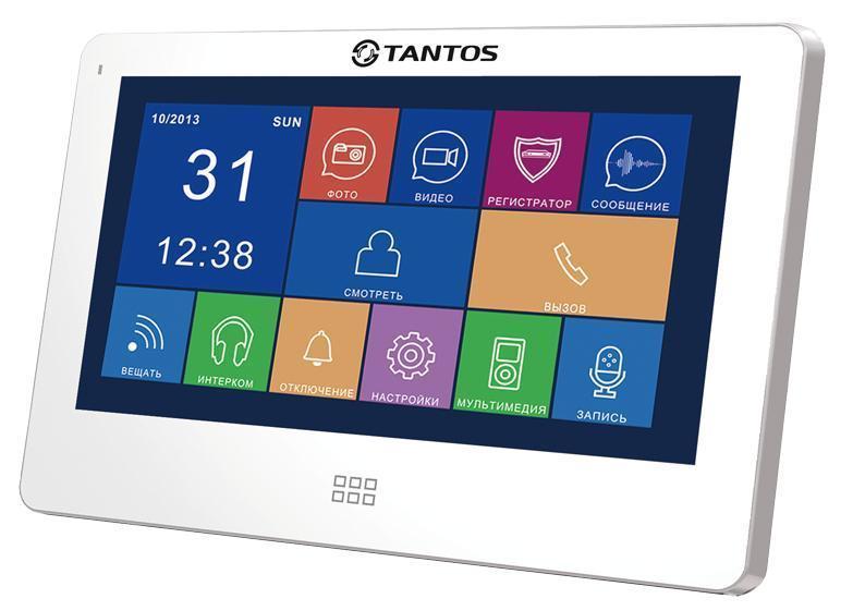 Tantos NEO Slim, White монитор видеодомофона00-00016191Цветной видеодомофон Tantos NEO Slim с диагональю экрана 7 дюймов и разрешением 800x600, отличается удобством функциональных особенностей и сенсорным управлением, подобно современным смартфонам. Благодаря полностью русифицированному меню, видеодомофон Tantos NEO Slim прост в управлении. Значки меню выполнены подобно значкам меню iPhone. Домофон позволяет установить мелодии в формате MP3 в качестве сигнала вызова. Монитор Tantos NEO Slim работает с самыми распространенными вызывными панелями отечественного и зарубежного производства. К этому видеомонитору подключается до 2-х вызывных блоков, соединение с панелями монтируется 4-х проводным кабелем , кроме них, возможно подключение дополнительных обзорных камер в количестве 2 штук . Это даст Вам возможность построить систему видеонаблюдения с максимальной эффективностью. В домофоне есть функция записи видео по движению на один канал. Просмотр видео осуществляется с монитора Tantos Neo Slim. Вся информация...