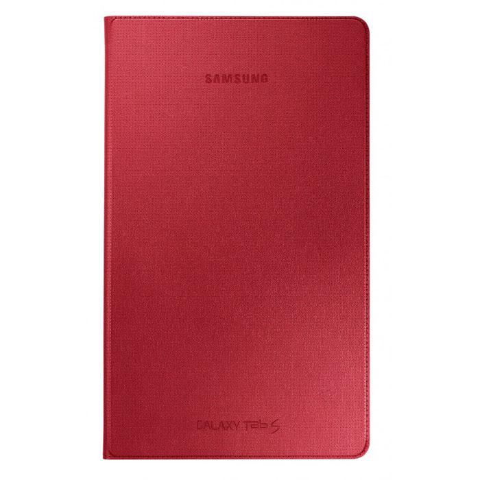 Samsung EF-DT700B Simple Cover чехол для Galaxy Tab S 8.4, RedEF-DT700BREGRUЧехол-обложка Simple Cover для Tab S 8.4 выполнена из качественного материала имитирующего кожу. Самый тонкий и лёгкий чехол для Galaxy Tab S с защитой дисплея. Оригинальная конструкция крепления надёжно держит обложку на планшете, достаточно вставить специальные защёлки в отверстия на планшете и дисплей надёжно будет защищён.