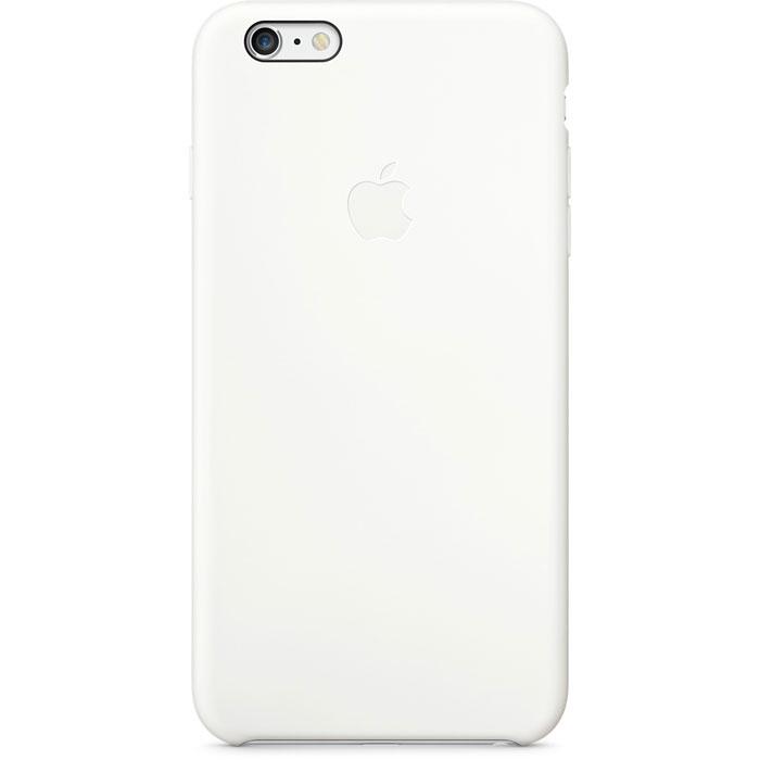 Apple Silicone Case чехол для iPhone 6 Plus, WhiteMGRF2ZM/AApple Silicone Case плотно прилегает к кнопкам управления громкостью и режима сна и точно повторяет контуры iPhone 6 Plus/6s Plus, при этом не делая его громоздким. Мягкая подкладка из микроволокна защищает корпус iPhone. А внешняя поверхность силиконового чехла очень приятна на ощупь.