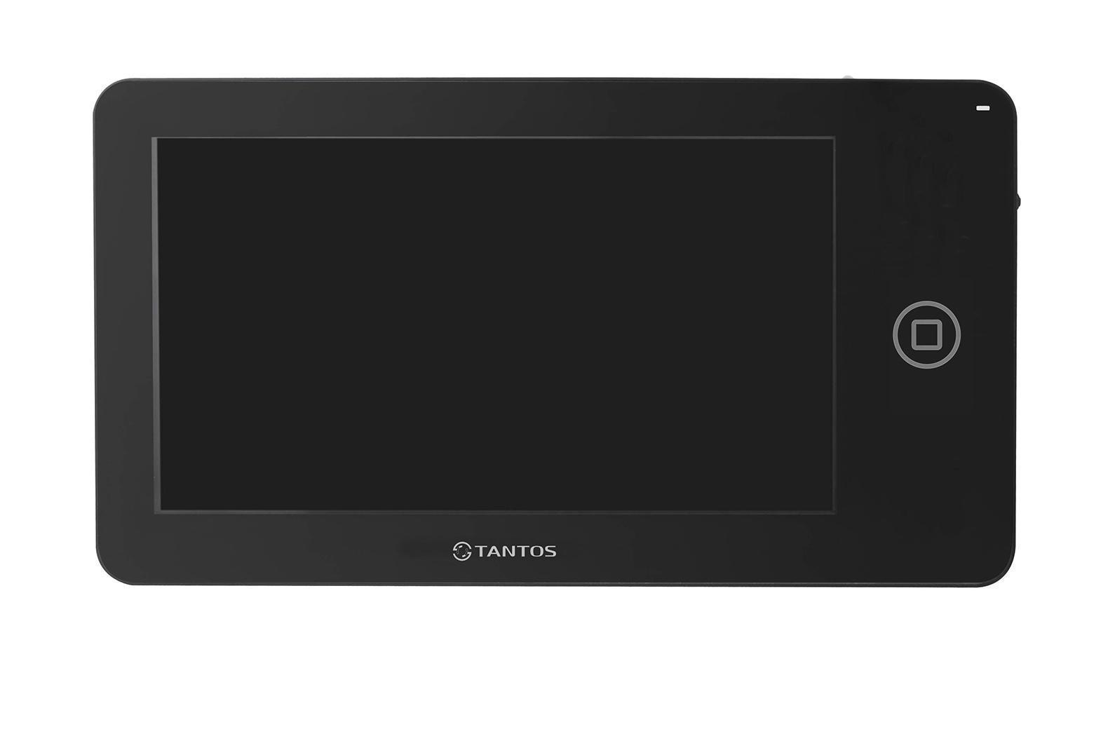 Tantos NEO, Black монитор домофона00-00014349Классический вариант монитора 7 дюймов. Ничего лишнего, идеальный вариант для офиса или квартиры с пожилыми людьми. Видеодомофон позволяет осуществлять внутреннюю видеосвязь между абонентами жилого помещения. Предназначен для возможности дистанционного наблюдения пространства перед входной дверью и организации двухсторонней аудио связи с посетителем. К монитору подключаются все самые распространенные вызывные панели отечественных и зарубежных производителей. Соединение с панелями 4-х проводное. Так же возможно подключение дополнительного оборудования: видеокамеры, вызывные панели или мониторы.