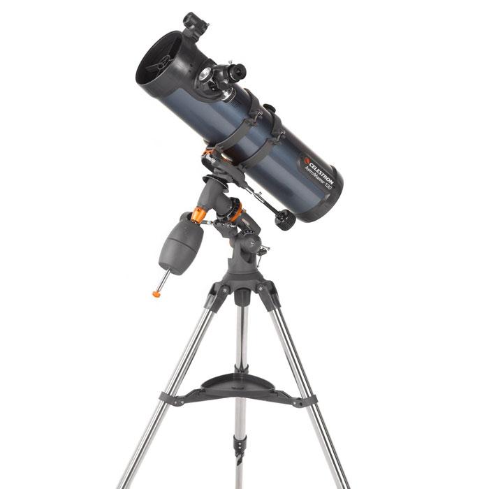 Celestron AstroMaster 130 EQ телескоп31045Ищете универсальный телескоп, подходящий для наблюдения как наземных, так и небесных объектов? Тогда телескоп AstroMaster 130 EQ – для вас! Этот мощный оптический инструмент, обладающий качественной оптикой, надежностью и простотой в эксплуатации, дает яркие, контрастные изображения тысяч объектов ночного неба, делая занятия астрономией интересными и доступными каждому. Телескоп быстро подготавливается к работе, не требуя инструментов для сборки, и практически не нуждаются в техническом обслуживании. Телескопы AstroMaster 130 EQ оснащены переработанными искателями StarPointer, упрощающими наведение на цель, быстросъемными приспособлениями типа «ласточкин хвост» для крепления оптической трубы, удобными полочками для аксессуаров и легкими, предварительно собранными стальными треногами. Телескопы имеют ручное управление, позволяющее легко и быстро находить небесные объекты и следить за ними. Интересуют наблюдения наземных объектов? Оптика с прямым изображением...