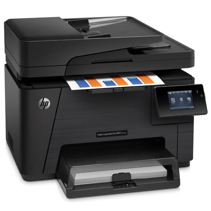 HP LaserJet Pro M177fw (CZ165A) МФУCZ165AHP LaserJet Pro M177fw (CZ165A) - идеальное решение для работы компаний, которым необходимо повысить производительность и выполнять печать маркетинговых материалов профессионального качества прямо в офисе. Цветное МФУ HP Color LaserJet Pro обеспечивает яркие и насыщенные цвета при печати, сканировании и копировании. Это компактное МФУ может размещаться в ограниченном пространстве. С его помощью можно завершать задания печати, не прилагая много усилий. Выполнение заданий копирования большого объема осуществляется с помощью устройства автоматической подачи документов на 35 страниц, пока вы занимаетесь другим делом. Расширение возможностей устройства доступно благодаря поддержке разнообразных типов носителей. Печать первой страницы производится за считанные секунды. Запуск каждой задачи выполняется всего несколькими простыми касаниями на сенсорном дисплее с диагональю 7,6 см. Доступно также использование приложений, упрощающих управление...