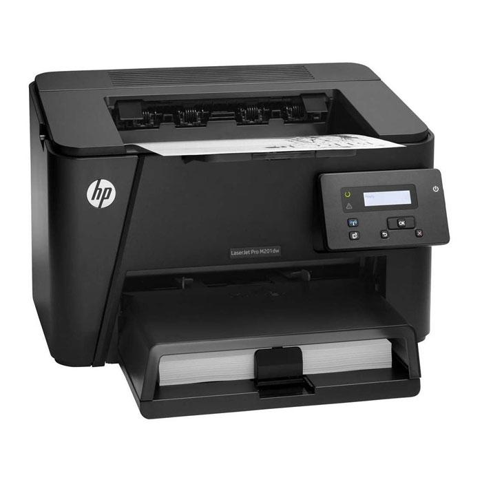 HP LaserJet Pro M201dw (CF456A) лазерный принтерCF456AПродвинутые встроенные и дополнительные функции безопасности в сочетании с высокой скоростью работы и возможностью печати со смартфонов, планшетов и ноутбуков делают принтер HP LaserJet Pro M201dw (CF456A) идеальным решением для повышения производительности. Интуитивно понятные функции позволяют быстрее выполнять задания печати. С помощью встроенных функций вы можете легко управлять настройками принтера и обеспечивать защиту данных. Оцените преимущества мгновенной печати: благодаря технологии HP Auto Wireless Connect принтер автоматически подключается к беспроводной сети. Благодаря подключению по сети Ethernet принтер можно использовать совместно с другими сотрудниками. Принтер оснащен разъемом USB для подключения, а также инструментами управления и контроля за расходными материалами, которые можно запустить с настольного ПК. Вам больше не нужно думать о проблемах подключения и безопасности. Благодаря интуитивно-понятной панели ...