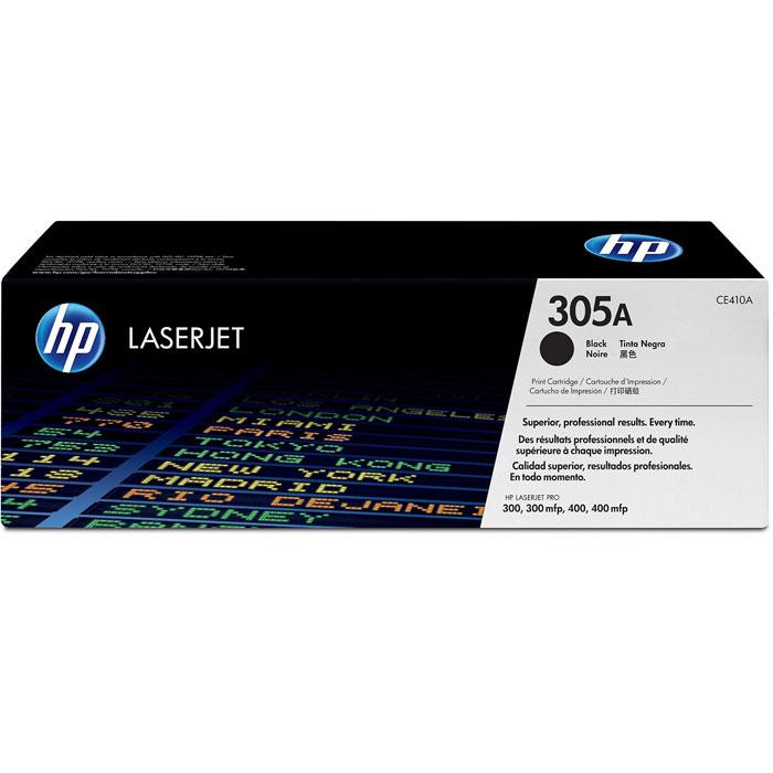 HP CE410A (305A), Black картридж для лазерных принтеровCE410AЧерный картридж с тонером HP 305A LaserJet помогает создавать документы и маркетинговые материалы