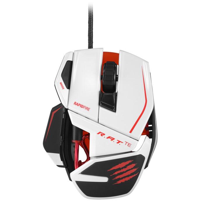 Mad Catz R.A.T.TE, White игровая мышь (MCB437040001/04/1)