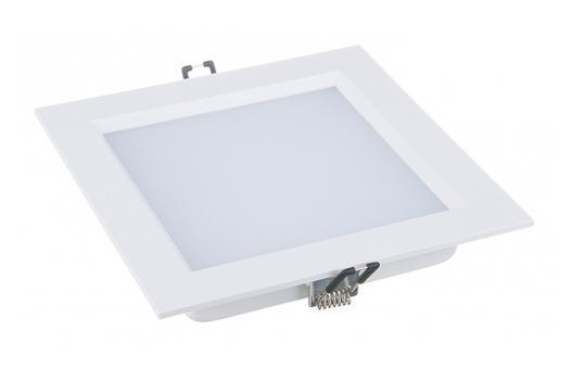 Встраиваемый потолочный светодиодный светильник Elektrostandard DLSS170 18W 4200K теплый белыйa031703Размер: 170 x 170 x 30 мм Монтажное отверстие: 150 x 150 мм Мощность: 18 Вт Питание: 220 В / 50 Гц Светоотдача: 2000 лм Cвет: теплый белый 4200 К Срок службы светодиодов: 50 000 ч Температурный режим: –10 ... +45° С Угол рассеивания: 110° Гарантия: 3 года Корпус из алюминия