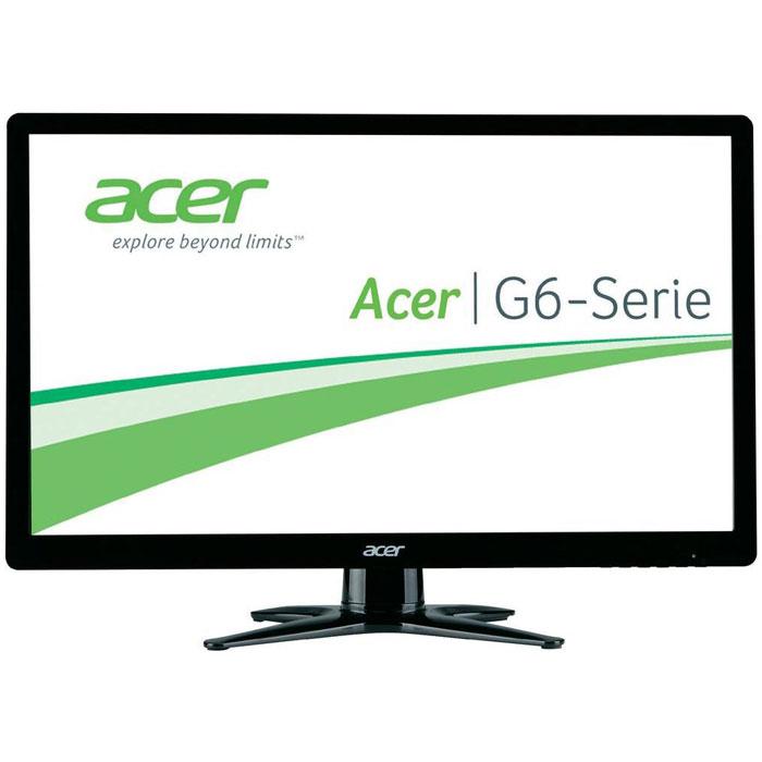 Acer G246HYLBID, Black мониторUM.QG6EE.009Acer G246HYLBID - монитор с диагональю 23,8 дюйма, обрамленный тонкой черной рамкой. Экран построен на основе IPS-матрицы, имеет разрешение 1920 х 1080. Эти характеристики позволяют воспроизводить яркое и чистое изображение без пикселизации и потери резкости при просмотре под углом. Матовое покрытие избавляет от бликов. Данная модель обеспечивает качественное проигрывание динамичных сцен в видеороликах и фильмах. Подставка монитора обладает подвижной конструкцией для регулировки наклона.