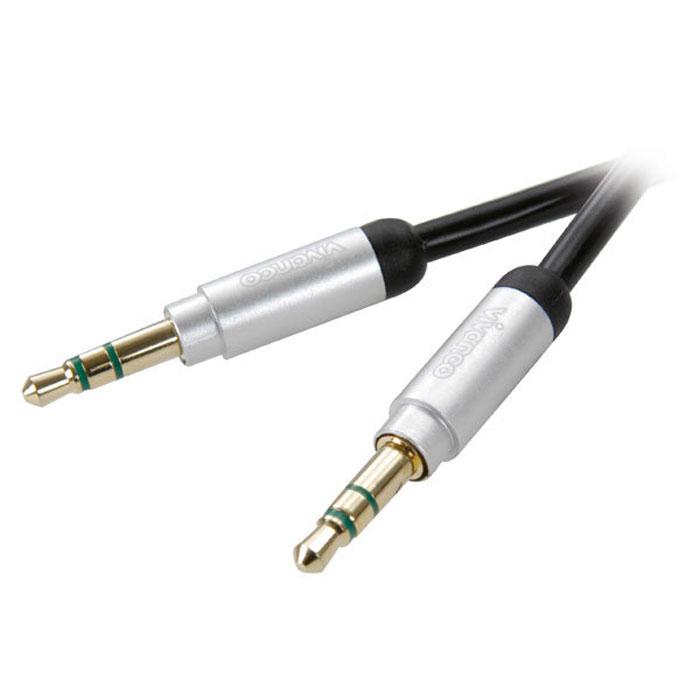 Vivanco аудиокабель стерео HiFi, 0.3 м31038Аудиокабель Vivanco служит для соединения вашего iPhone/iPod/iPad/MP3-плеера, ноутбука или персонального компьютера к усилителю или аудио/видео ресиверу. Проводник из бескислородной меди.