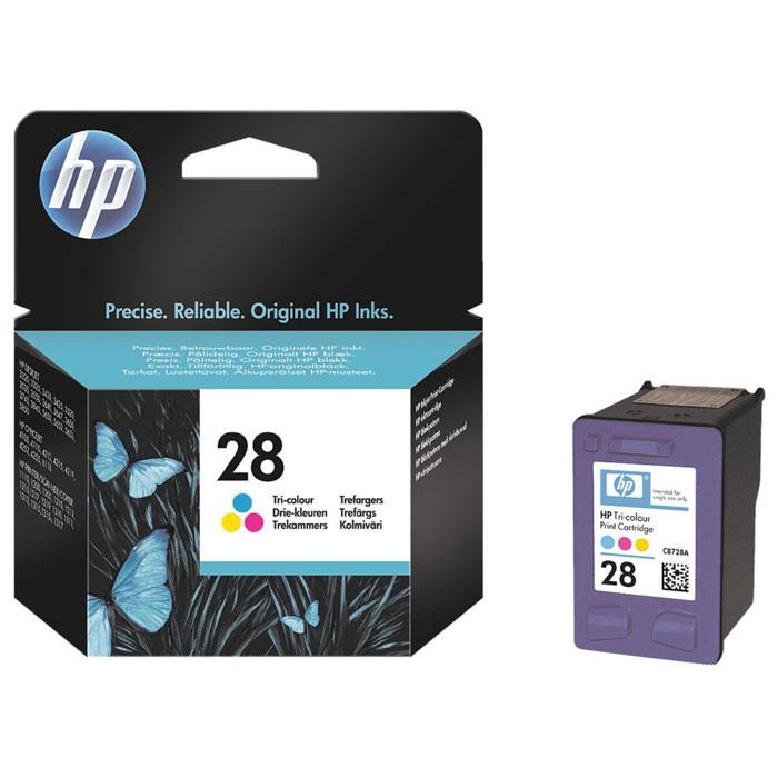 HP C8728AE (28) трехцветный струйный картриджC8728AEТрёхцветный струйный картридж HP 28 позволяет получать яркие долговременные распечатки фотографического качества благодаря применению запатентованных чернил на основе красителя, ориентированных на точное согласованное взаимодействие с вашей системой печати HP в целях достижения неизменно выдающихся результатов. Чернила на пигментной основе Контроль уровня чернил