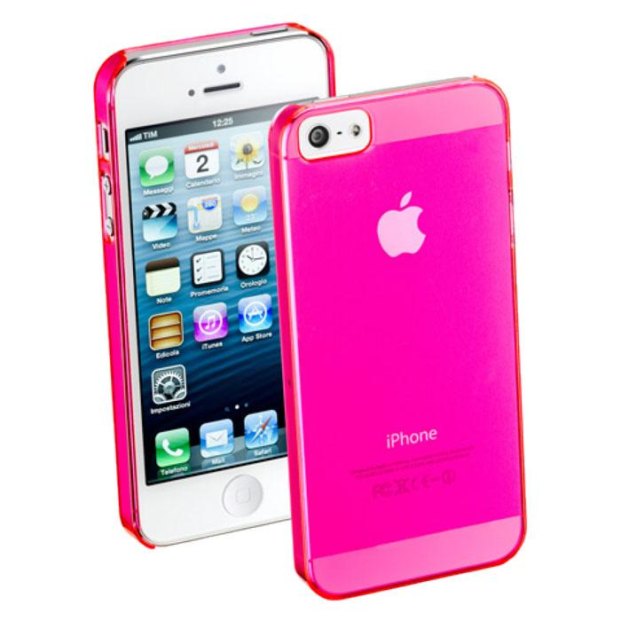Cellular Line Cool Fluo чехол для iPhone 5/5S, PinkCOOLIPHONE5PCellular Line Cool Fluo - стильный и яркий чехол, размер которого практически не превышает параметры самого устройства. Все разъемы и элементы управления смартфоном открыты и легко доступны.