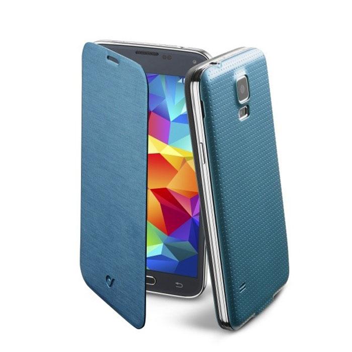 Cellular Line Flip Book чехол для Samsung Galaxy S5 (20684), BlueBACKBOOKGALS5BCellular Line Flip Book чехол для Samsung Galaxy S5 предназначен для защиты корпуса смартфона от механических повреждений и царапин в процессе эксплуатации.